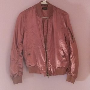 Satin Pink Bomber Jacket